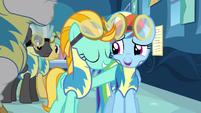Rainbow Dash forced smile S3E7