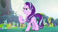 Starlight Glimmer finishes her epic speech S7E17