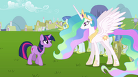 Twilight and Celestia -with all due respect- S03E10