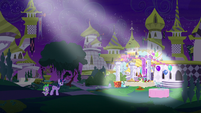 Twilight imagining Moon Dancer's party S5E12