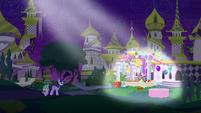 Twilight imagining Moon Dancer's party S5E12
