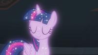 Astral Twilight Sparkle shakes her head S8E22