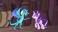 "Princess Ember ""death-defying dragon stuff"" S7E1"