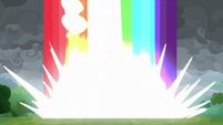 Rainbow of light slams into the ground S9E25