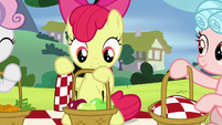 Apple Bloom with a picnic basket of apples S8E12