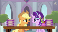 "Applejack ""I don't know about all this"" S8E1"