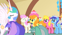 Celestia exits the brunch S01E22