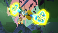 Flash bee swarm flying out of the hive S7E20