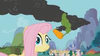 Fluttershy hit by carrot S1E7