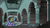 Mane Six and Pillars see shadows closing in S7E26