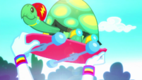 Rainbow Dash holds up Tank's board EGDS32