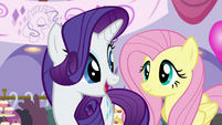 Rarity asks Fluttershy to get Twilight ready S5E14