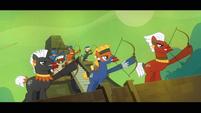The Fortress of Talicon's impenetrable arrow defense S4E04
