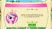 """Mobile game Princess Cadance's """"Galloping Maiden"""" task"""