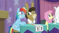 Rainbow Dash and Matilda grinning S9E16
