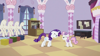 Rarity and Sweetie Belle angry at each other S2E05