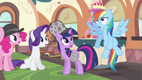 Rarity hear Rainbow Dash confess S2E24