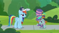 "Snips ""a pony can't show school spirit?"" S9E15"
