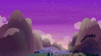 Sun setting over Ponyville S6E17