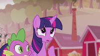 Twilight --couldn't find Pinkie or Rarity or Fluttershy or Rainbow-- S5E25