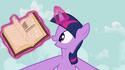 Twilight Sparkle opens book S2E17