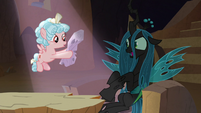 Cozy Glow holding Chrysalis' log S9E8