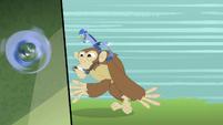 Discord riding on a monkey S4E11