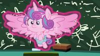 Flurry Heart in Twilight Sparkle's magic aura S7E3