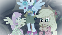 Fluttershy, RD, and AJ holding their geodes EGFF