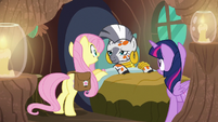 Fluttershy and Twilight check up on Zecora S7E20