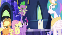 Fluttershy blushes with embarrassment S9E13