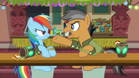 "Quibble Pants ""impossible action sequences!"" S6E13"