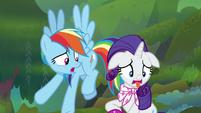 "Rainbow Dash ""his breath smells so bad"" S8E17"
