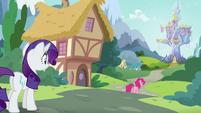 Rarity watches Pinkie walking away S5E19