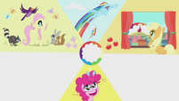 Slide of Pinkie Pie's cutie mark moment S5E25