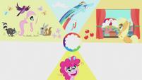 Slide of Pinkie Pie's cutie mark moment S5E25