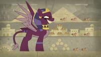The sphinx terrorizes the village S7E18