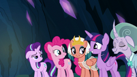 Twilight and friends happy; Starlight concerned S7E26