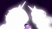 Celestia and Luna transform before Twilight S9E1