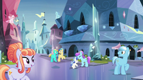 Crystal Ponies returning to normal S9E1