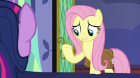 """Fluttershy """"cross-reference a book about masks"""" S7E20"""