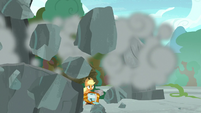 Large rock crashes onto Meadowbrook's pedestal S7E25