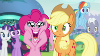 Pinkie excited for Countess Coloratura S5E24
