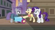 Pouch Pony giving Maud the party cannon S6E3.png