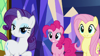 Rarity, Pinkie, and Fluttershy ready to help S8E2
