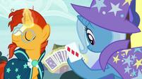 Trixie draws the three of diamonds S7E24