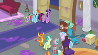 Young Six cheering happily S8E16