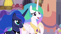 "Celestia ""Equestria is in the perfect hooves"" S9E26"