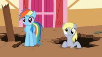 Derpy about to cheer for Rainbow Dash S2E14