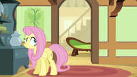 Fluttershy sees her couch moving down the hall S6E11
